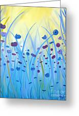 Poppies At Twilight Greeting Card by Stacey Zimmerman