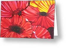 Poppies Fantasy Greeting Card by Gabriela Stavar