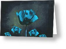 Poppies Fun 01 - Bb Greeting Card by Variance Collections