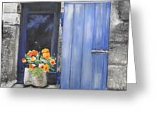Poppies On The Windowsill Greeting Card by Cindy Plutnicki
