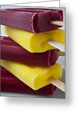 Popsicle Ice Cream Greeting Card by Garry Gay