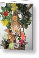 Porcelain Doll Arrangement Greeting Card by HollyWood Creation By linda zanini