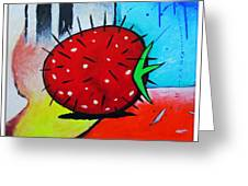 Porcupine Strawberry Greeting Card by Snake Jagger