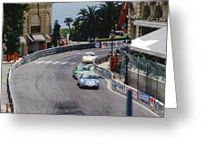 Porsches At Monte Carlo Casino Square Greeting Card by John Bowers
