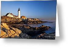 Portland Head Lighthouse Greeting Card by Brian Jannsen