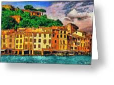 Portofino II Greeting Card by George Rossidis