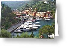 Portofino Greeting Card by Marilyn Dunlap