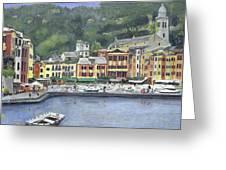 Portofino Greeting Card by Peter Worsley