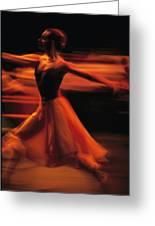 Portrait Of A Ballet Dancer Bathed Greeting Card by Michael Nichols