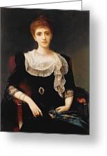Portrait Of A Lady Greeting Card by Charles Edward Halle