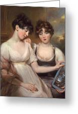 Portrait Of Anne And Maria Russell Greeting Card by John Russell