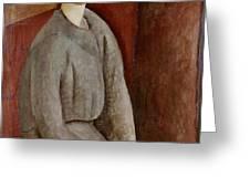 Portrait of Annie Bjarne Greeting Card by Amedeo Modigliani
