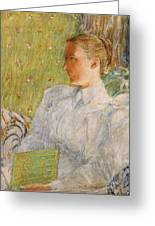 Portrait Of Edith Blaney Greeting Card by Childe Hassam
