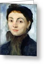 Portrait Of Josephine Gaujelin Greeting Card by Edgar Degas