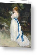 Portrait Of Lise   Greeting Card by Pierre Auguste Renoir