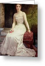 Portrait Of Madame Olry-roederer Greeting Card by William-Adolphe Bouguereau