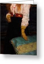 Portrait Of Miss Macwirter Greeting Card by Sir Lawrence Alma-Tadema