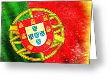 Portugal Flag  Greeting Card by Setsiri Silapasuwanchai