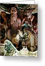 Poseidon And Friends Greeting Card by Christopher Holmes