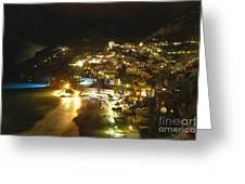 Positano Nightscape Greeting Card by George Oze