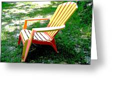 Poster Chair Greeting Card by Regina McLeroy