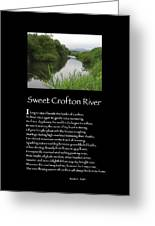 Poster Poem - Sweet Crofton River Greeting Card by Poetic Expressions