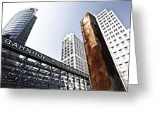 Potsdamer Platz Berlin Greeting Card by Melanie Viola