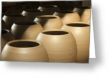 Pottery In Thailand Greeting Card by Chatchawin Jampapha