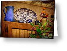 Pottery Still Life Greeting Card by Judi Bagwell