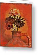 Pottery With Dried Flowers Greeting Card by Marsha Heiken