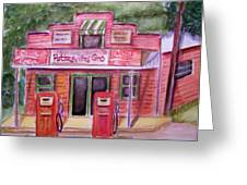 Pottesville Gro. Greeting Card by Belinda Lawson