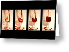 Pouring Red Wine Greeting Card by Svetlana Sewell