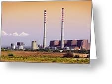 Power Plant Greeting Card by Carlos Caetano