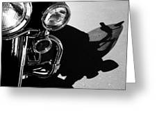 Power Shadow - Harley Davidson Road King Greeting Card by Steven Milner