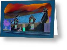 Powers Thatched Pub Oughterard Connemara Greeting Card by Vanda Luddy