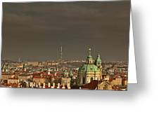 Prague - A Symphony In Stone Greeting Card by Christine Till