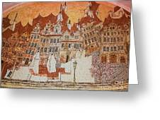 Prague Cafe Wall Mural Greeting Card by Michael Canning
