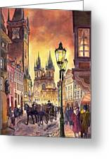 Prague Old Town Squere Greeting Card by Yuriy  Shevchuk