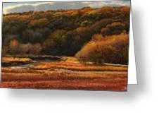 Prairie Autumn Stream No.2 Greeting Card by Bruce Morrison