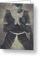 Prayer Greeting Card by Joana Kruse