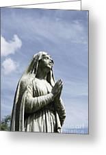 Praying In The Sky.01 Greeting Card by John Turek