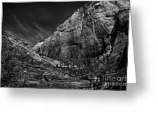 Precipice At Zion National Park Lll Greeting Card by Hideaki Sakurai
