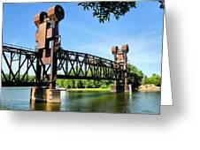 Prescott Lift Bridge Greeting Card by Kristin Elmquist