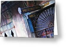 Preservation Hall Sign Greeting Card by Jeremy Woodhouse