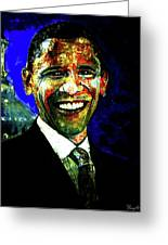 President Barack Obama Greeting Card by Romy Galicia