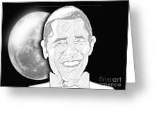 President  Barrack Obama Greeting Card by Belinda Threeths