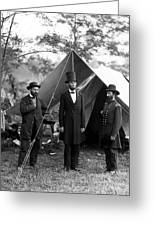 President Lincoln Meets With Generals After Victory At Antietam Greeting Card by International  Images