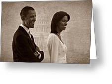President Obama And First Lady S Greeting Card by David Dehner