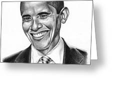 Presidential Smile Greeting Card by Jeff Stroman