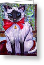 Pretty Fat Cat Greeting Card by Phyllis Kaltenbach